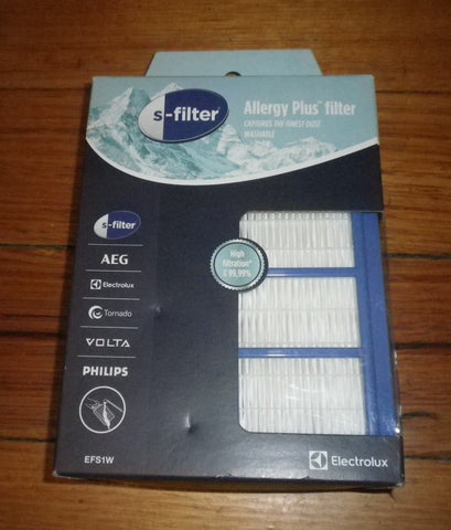 Electrolux High Performance Allergy Plus Washable Hepa Filter - Part No. EFS1W