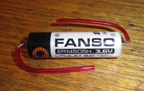 Fanso 3.6Volt AA Lithium Battery with Axial Leads - Part # ER14505HP
