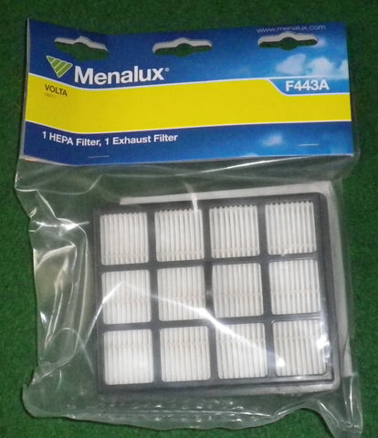 Volta U6011 Ultima Pet Plus Hepa & Exhaust Vacuum Filter Set - Part # F443A