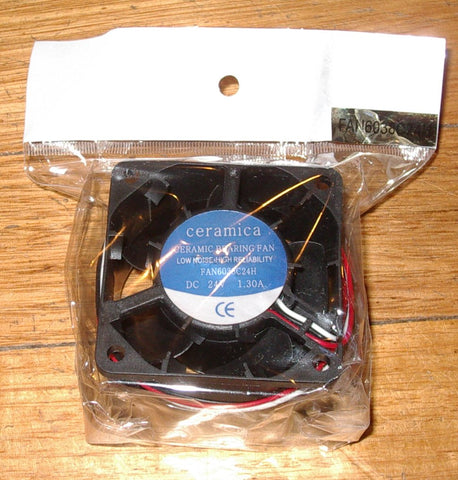 Fast 24Volt 60x38mm Computer Case, Power Supply Cooling Fan - # FAN6038C24H