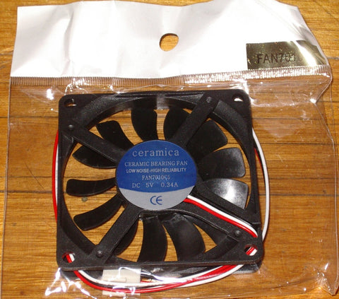 70mm X 10mm 5Volt Computer Case, Power Supply Cooling Fan - Part # FAN7010C5