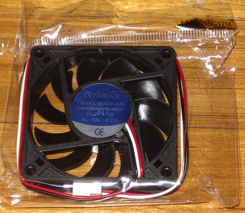 70mm X 15mm 12Volt Computer Case, Power Supply Cooling Fan - Part # FAN7015C12M