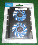 "Deep Cool Icedisk 2 Twin Cooling Fan for 3.5"" Hard Disk Drives - Part # FAN927"