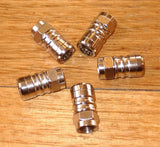 Metal Push-On F-Connectors for RG6 Quad  Coaxial Cable (Qty 5) - Part # FC7008C5