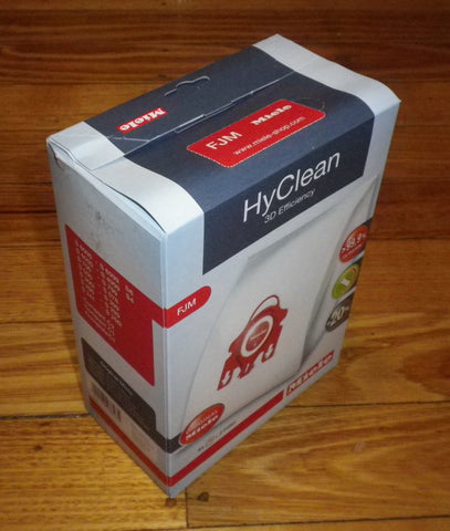 Miele Genuine HyClean High Filtration Synthetic Vacuum Cleaner Bags - Part # FJM