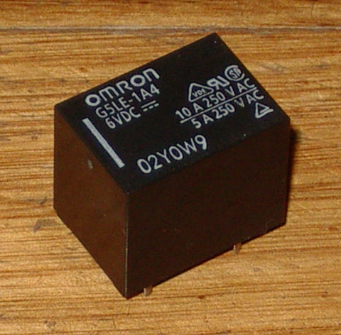 6Volt Relay - SPST 240VAC, 10Amp Contacts suits Blanco Cooktop - Part # G5LE-1A4-6VDC