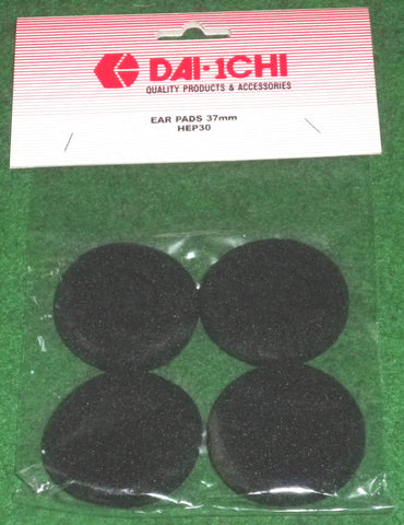 37mm Headphone Replacement Foam Pads (Pkt 4) - Part # HEP30