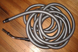 9Mtr Silver Ducted Vacuum Hose with 32mm Bent End Handle - Part # HSCOM9