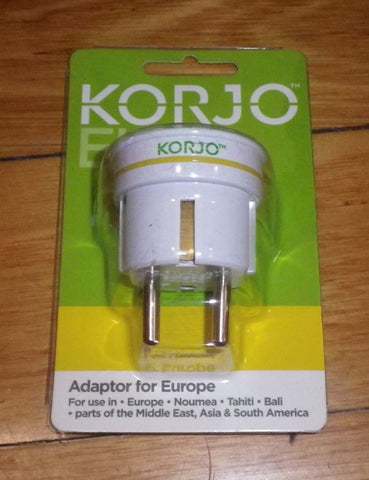 Korjo Australian to Europe Travel Plug Adaptor - Part # KA-EU