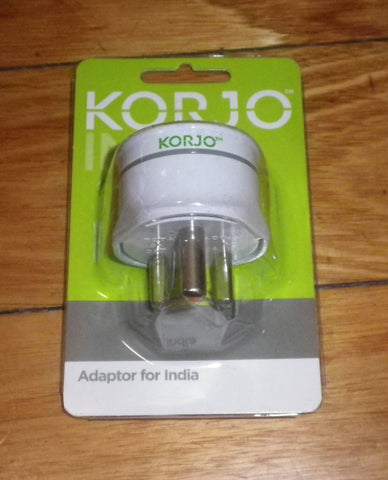 Korjo Australian to India Travel Plug Adaptor - Part # KA-IN