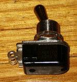 Carling SPST Chrome Toggle Switch Fits Many Guitar Amplifiers - Part No. SWT110