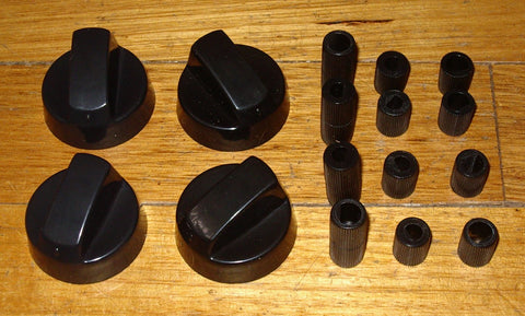 Handy Gas or Electric Stove Black Control Knob Kit (Pkt 4) - Part No. KNB35K