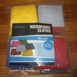 40cmm x 40cm MicroFibre Cloth Pack - Mixed Colours (Pkt 40) - Part # MFPK-MIX