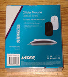 Glide White 3 Button USB Optical Computer Mouse with Scroll - Part # MOU213WH