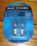 Arlec Night Light Miniature Pilot Globe 7Watt SES E14 (Pkt 2) - Part # NLG7