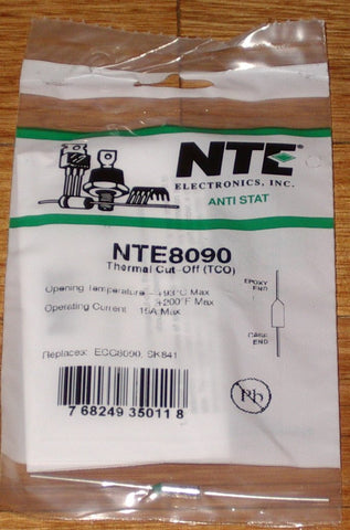 93degreeC 15amp Microtemp Thermal Fuse - Part # NTE8090
