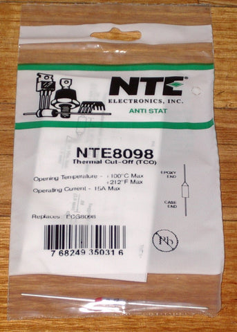 100degreeC 15amp Microtemp Thermal Fuse - Part # NTE8098