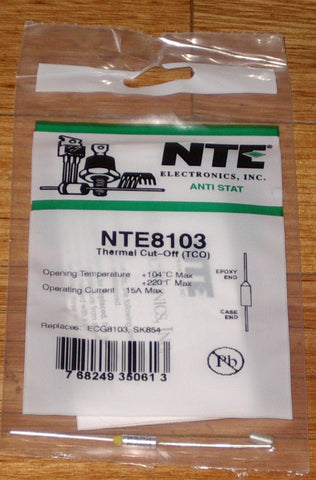 104degreeC 15amp Microtemp Thermal Fuse - Part # NTE8103