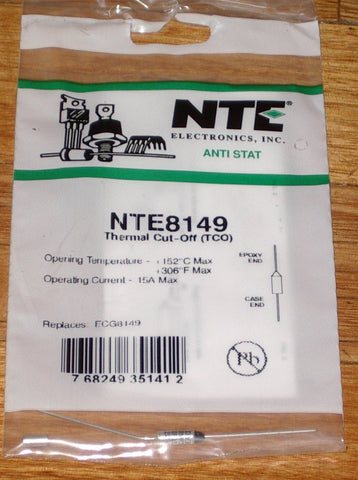 152degreeC 15amp Microtemp Thermal Fuse - Part # NTE8149