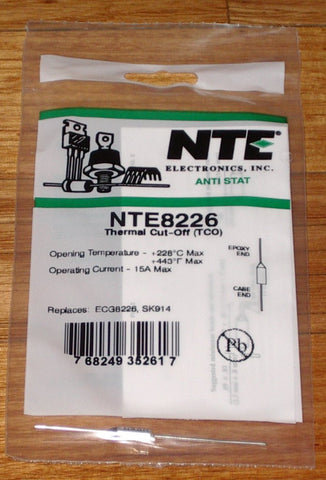 228degreeC 15amp Microtemp Thermal Fuse - Part # NTE8226