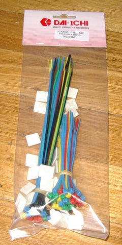 100 Assorted Multi-Coloured Handy Cable Ties - Part # NCT500