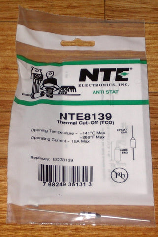 141degreeC 15amp Microtemp Thermal Fuse - Part # NTE8139