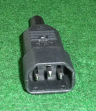 IEC 240VAC 10Amp Inline 3pin Male Socket - Part # PP4007N