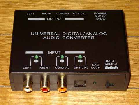 2 Way Digital to Analog / Analog to Digital Audio Convertor - Part # PRO1298
