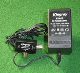 Kingray 14Volt DC TV Masthead Amplifier Power Supply with PAL Plugs - Part # PSK06
