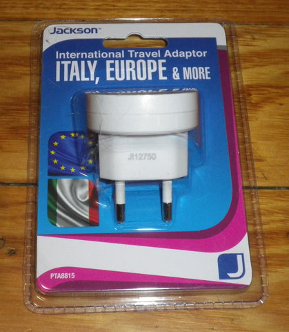 Jackson Australian/NZ to Europe Travel Plug Adaptor - Part # PTA8815