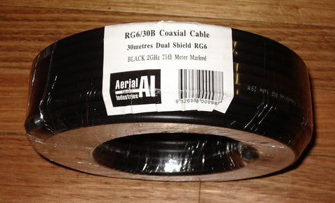 Handy 30metre Roll of RG6 Dual Shielded TV Coax Cable - Part # RG6/30B
