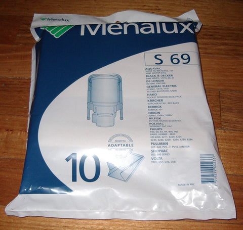 Pullman, Nilfisk Backpack Vacuum Cleaner Bags - Menalux Part # S69