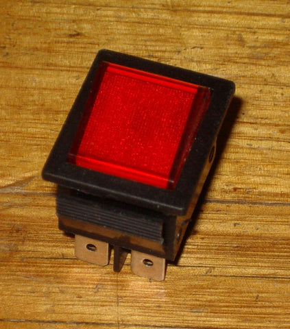 15Amp Red Illuminated DPDT Rocker Switch - Part # SK0982