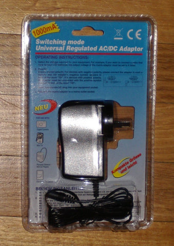 Vanson Universal 3-12Volt 1.0amp Switchmode AC Adaptor - Part # SMP-1000A