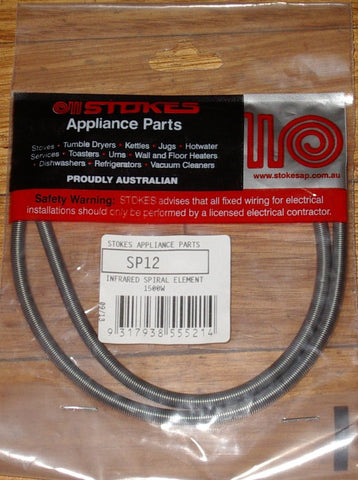 1500 Watt Heater Spiral Element - Part No. SP12