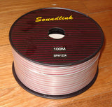 100Metres (100m, 100mtr) 22AWG Medium Speaker Cable with Red Trace - Part # SPW1224