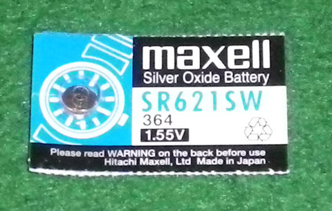 SR621SW Silver Oxide 1.55Volt Watch Battery