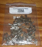 Nickel Silver 6.4mm Female Bare Spade Terminals Stoves (Pkt 50) - Part # T011