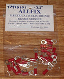 Red Insulated 5.3mm Ring Crimp Terminals (Pkt 25) - Part # TM10101-25