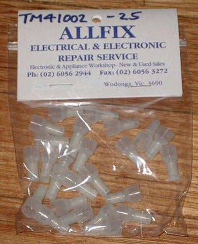 Medium Closed End Splice Crimp Terminals (Pkt 25) - Part # TM41002-25