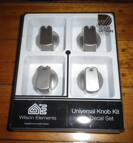 Handy Gas or Electric Stove Silver Control Knob Kit (Pkt 4) - Part No. UK-40S4