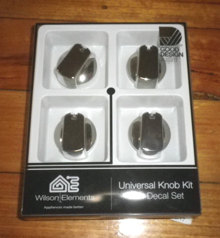 Handy Gas or Electric Stove Chrome Control Knob Kit (Pkt 4) - Part No. UK-40C4