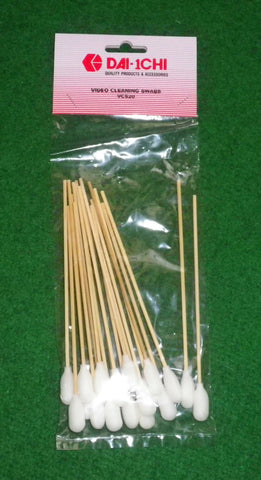 150mm Foam Tipped Cleaning Swabs (Pkt 20) - Part # VCS20
