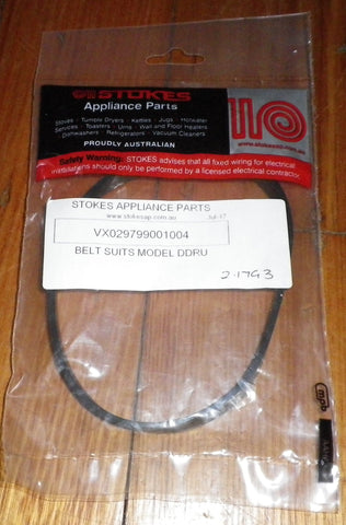 Vax VX8 Upright Vacuum Cleaner Agitator Drive Belt - Part # VX029799001004