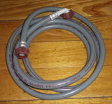 Universal Dishwasher Grey Dual Ended 3.0metre Inlet Hose - Part # W045D