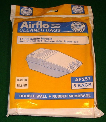 Goblin 302, 303, 304 Vacuum Cleaner Bags - Part No. AF257