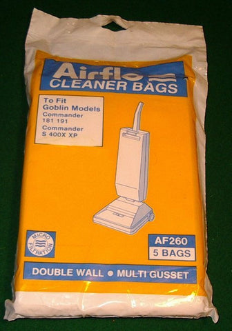 Goblin Commander 181, 191 Vacuum Cleaner Bags - Part # AF260