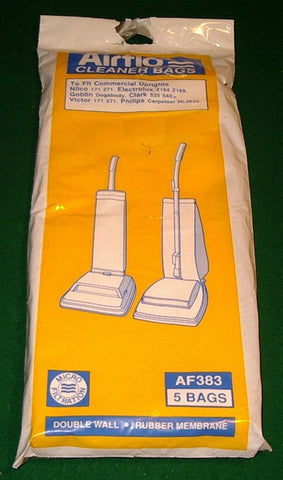 Commercial Upright Vacuum Cleaner Bags (Pkt 5) - Part # AF383