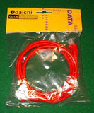 RJ45 to RJ45 CAT5E Red Crossover Computer Network Cable 2metre - Part # CL135