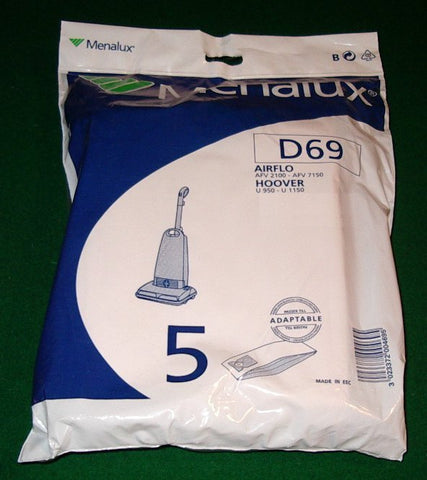 Hoover, Airflo Upright Vacuum Cleaner Bags - Part # D69